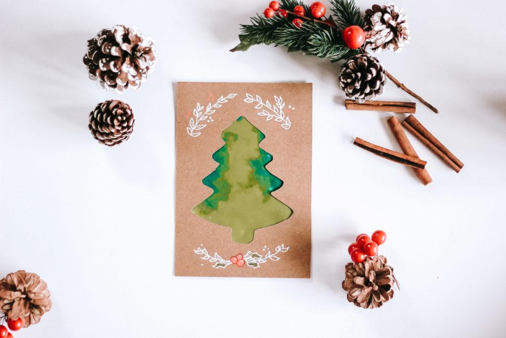 La Carte De Noel Peinture Propre Les Mercredis Sous La Pluie